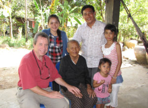 Roeun with Sarin and his family and Danny