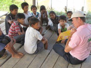 Jim teaching Spitler students