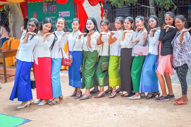 Teachers in traditional dress